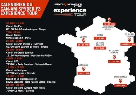Can-Am Spyder Experience Tour 2016: 8 week-ends d'essai à travers la France