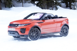 Le véhicule essayé : Range Rover Evoque cabriolet.