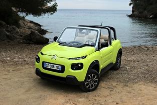 Le véhicule essayé : la Citroën e-Mehari.