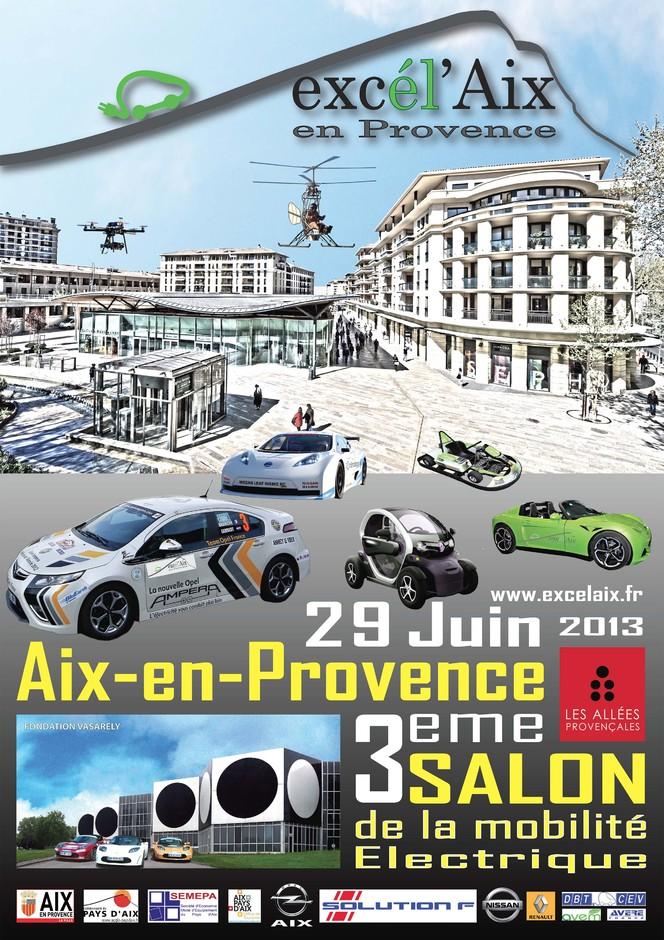 Agenda - 29/30 juin : Excél' Aix, le salon de la mobilité verte en plein centre d'Aix en Pce