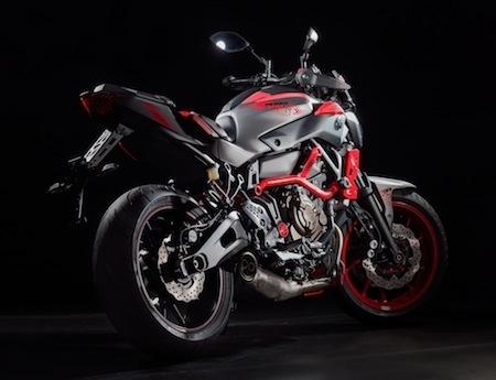 Quelque grammes de Stunt pour la Yamaha MT-07 Moto Cage