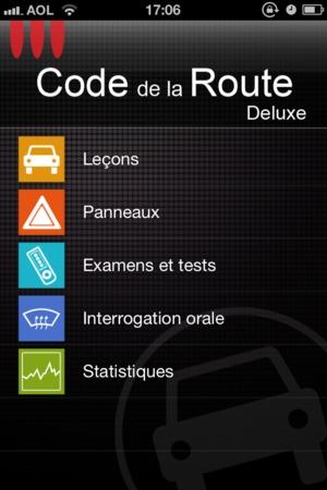 test pr parer son code sur iphone avec code de la route deluxe 2012. Black Bedroom Furniture Sets. Home Design Ideas