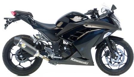 Leo Vince: un Slip-on pour la Kawasaki Ninja 300 (2013)