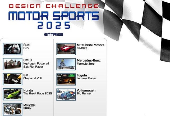 L.A Design Challenge 2008 - Motorsports 2025 : les participants