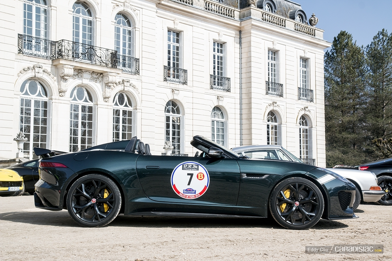 photos du jour jaguar f type project 7 rallye de paris. Black Bedroom Furniture Sets. Home Design Ideas