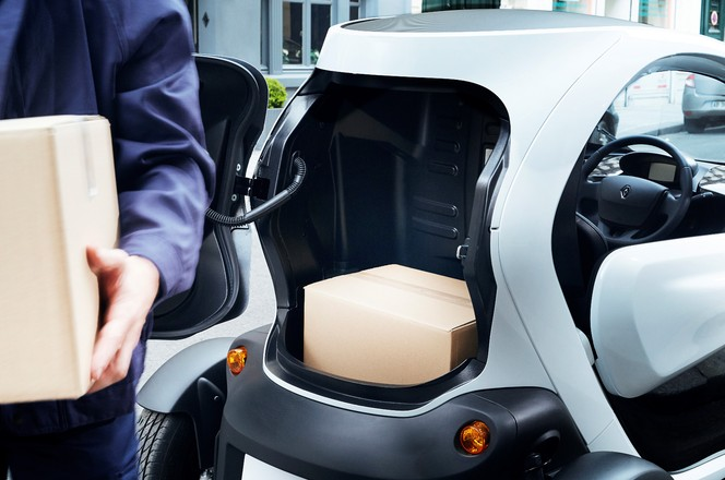 """Nouveau Renault Twizy Cargo: pour les """"pro""""."""