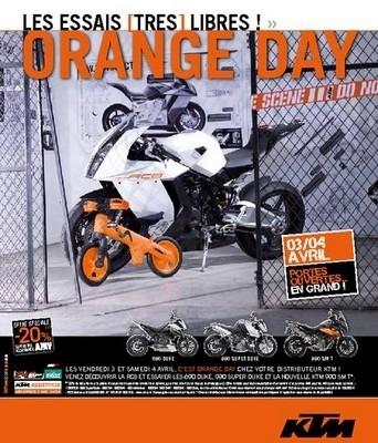 """Les """"Orange day"""" annoncent un week-end classé orange les vendredi 3 et samedi 4 avril 2009..."""
