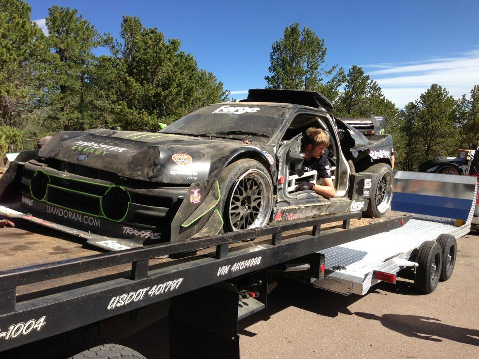 j 5 pikes peak 2013 d j de la casse accident pour pat doran ford rs 200 et cody. Black Bedroom Furniture Sets. Home Design Ideas