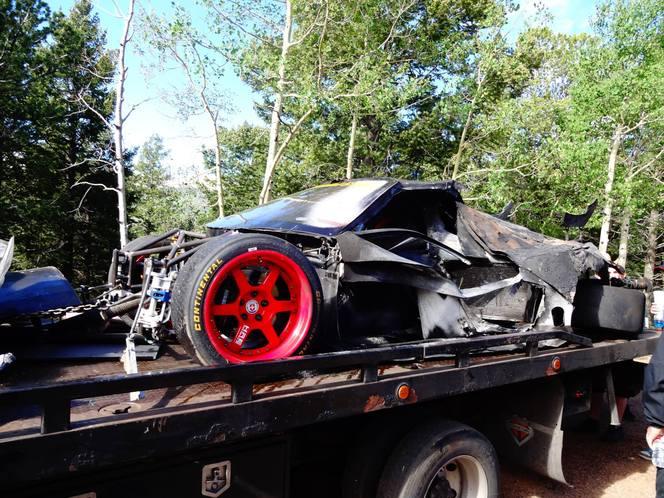 J - 5 Pikes Peak 2013 :  Déjà de la casse ! Accident pour Pat Doran (Ford RS 200) et Cody Loveland (Proto Lovefab)