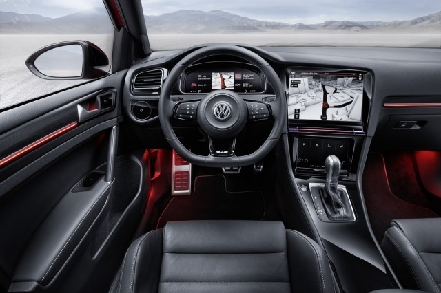 volkswagen la golf 8 montre une partie de son int rieur. Black Bedroom Furniture Sets. Home Design Ideas