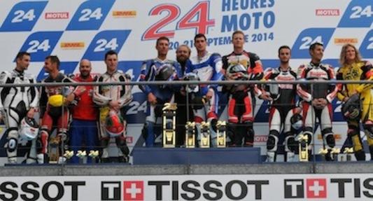 """Soheil Ayari sur le podium (catégorie """"Open"""") des 24 Heures du Mans moto!"""
