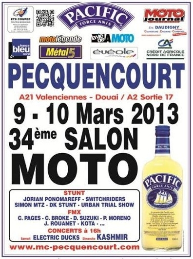 Salon de la Moto à Pecquencourt  les 9 et 10 mars 2013