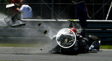 Le crash de Robert Kubica en photos: terrifiant