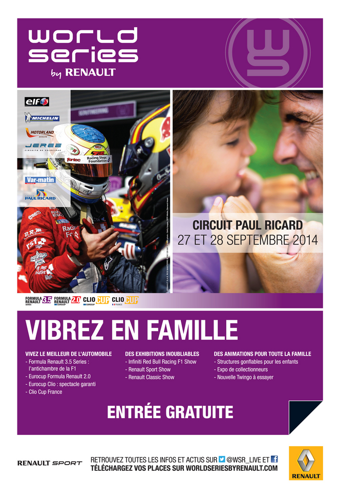 Agenda 27-28 sept : World Series by Renault au Paul Ricard