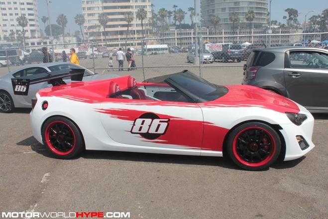 Un atelier américain créé une version cabriolet de la Toyota GT86