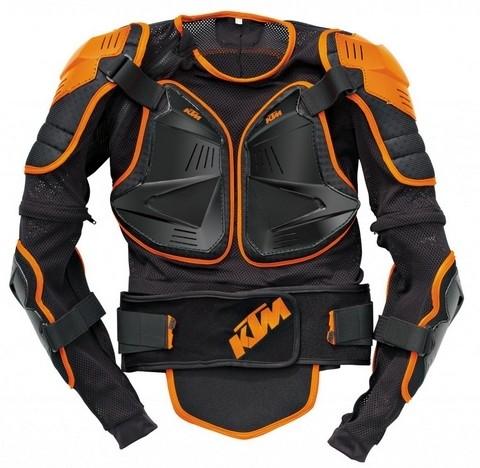 Pilote sous haute protection : KTM Body Armor.