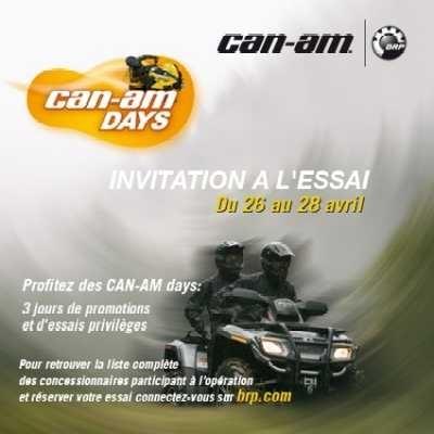 """Allez vite aux """"Can-Am Days"""" du 26 au 28 avril"""