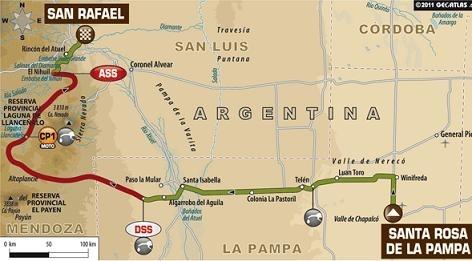Dakar 2012 : Etape 2, le parcours