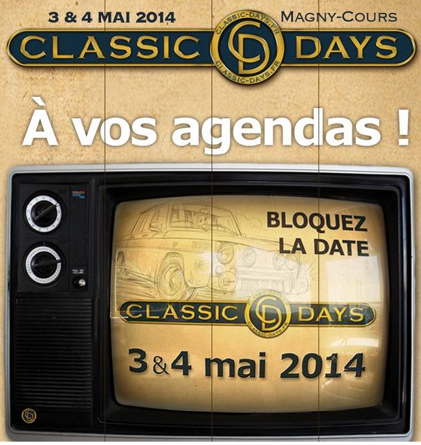 Caradisiac partenaire des Classic Days 2014