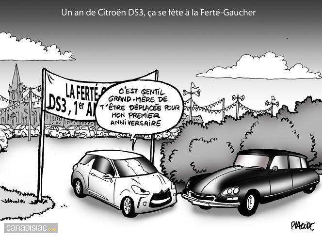 Le dessin du jour - Première bougie pour miss DS3 anti-rétro