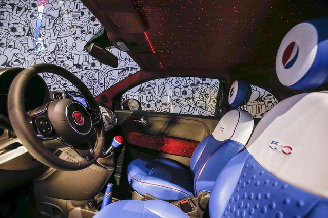 Milan Design Week 2016 : Fiat 500 Pepsi Live for Now, une citadine colorée