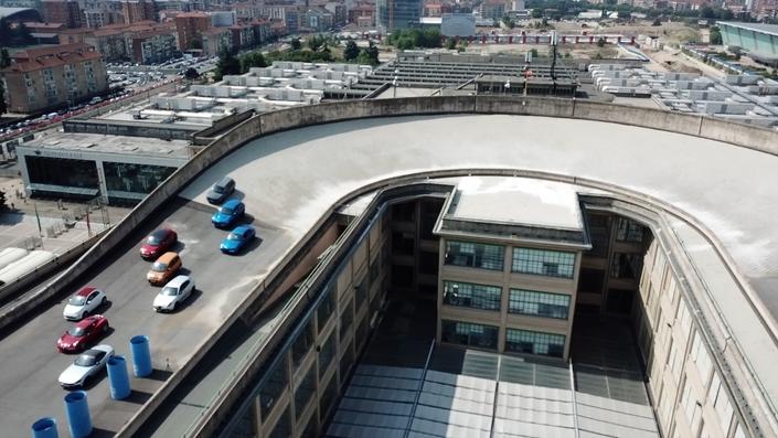 Автодром на крыше завода ФИАТ