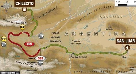 Dakar 2012 :  4ème étape, 324 kilomètres bien cassants