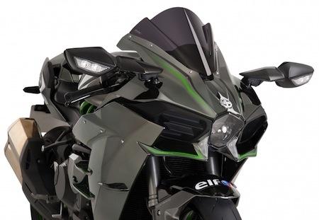 Puig: bulle et support de plaque pour Kawasaki Ninja H2