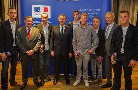 Les Champions du Monde Moto 2014 célébrés au Ministère des Sports