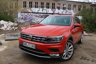 Le véhicule essayé: le Volkswagen Tiguan.