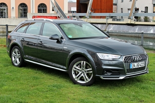 Le véhicule essayé: l'Audi A4 Allroad Quattro.