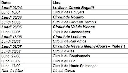 Journées Portes Ouvertes des Circuits FFM: l'édition 2012 (dates et circuits)