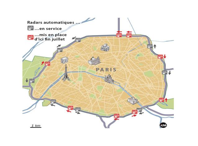 Huit nouveaux radars installés à Paris d'ici fin juillet
