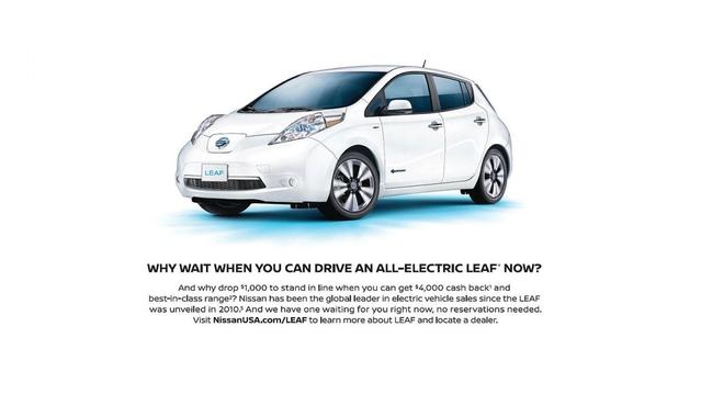 Nissan se moque de Tesla dans une pub pour la Leaf
