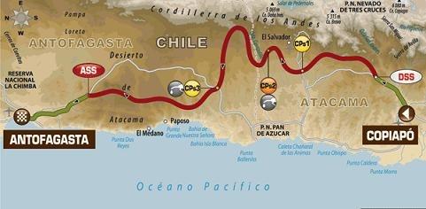 Dakar 2012 : Etape 8, la plus longue avec ses 447 kms