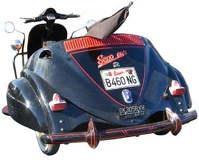 Photo du jour : vintage Vespa taxi