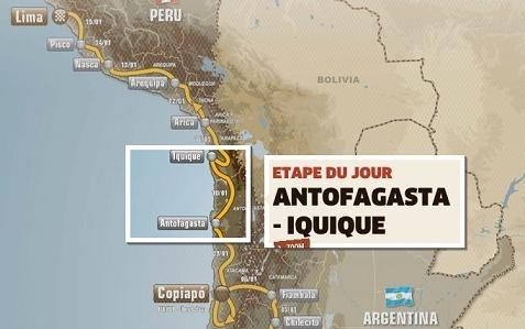 Dakar 2012 : Etape 9, en 2 temps et plein de mouvements ?