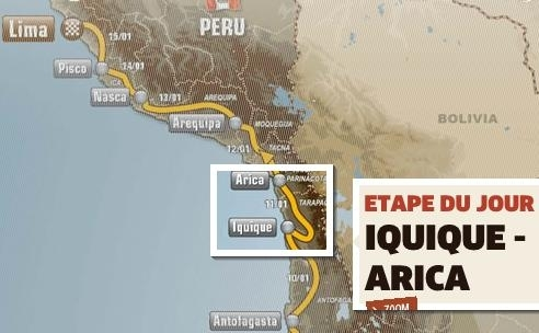 Dakar 2012 : Etape 10, direction Arica
