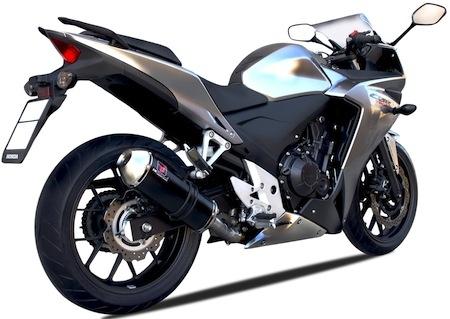 Ixrace X Pure Black: silencieux pour Honda CBR 500