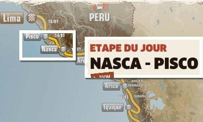 Dakar 2012 : Etape 13, « Ballade » le long du Pacifique