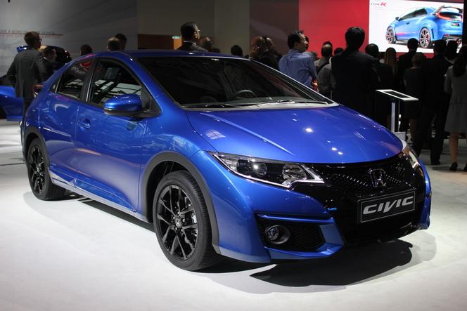 Honda Civic 9 restylée : discret  - Vidéo en direct du salon de Paris 2014