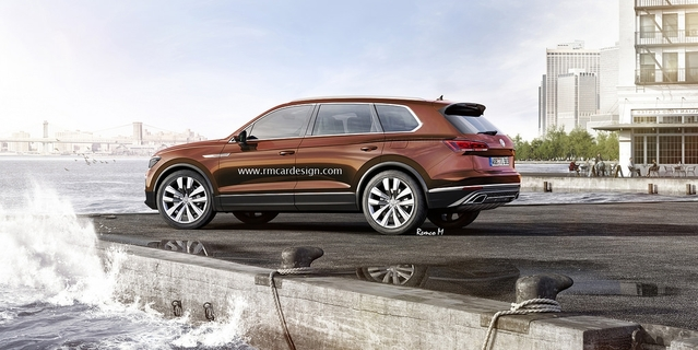 Design : le futur Volkswagen Touareg en rendu virtuel