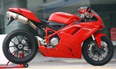 La Ducati 1098 au rappel.