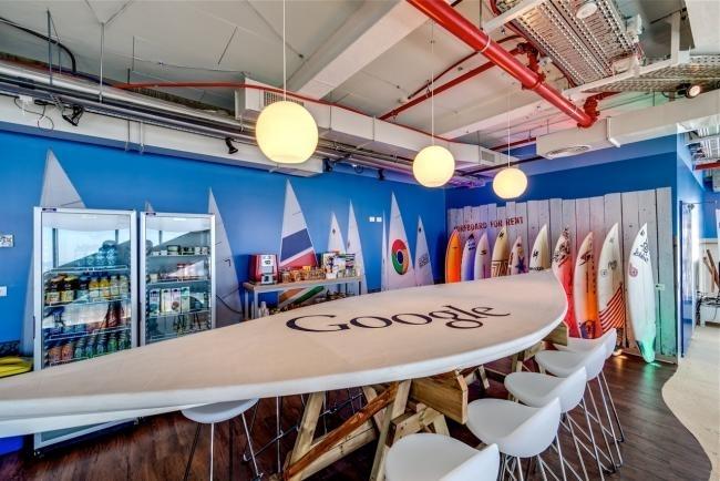 Ambiance californienne dans les locaux de Google à Tel-Aviv. Mais ce n'est que la partie émergée de l'iceberg.