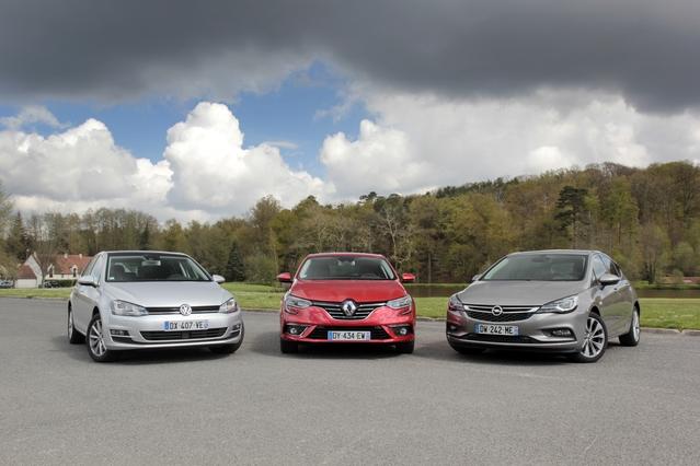 Comparatif vidéo - Renault Mégane vs Opel Astra vs Volkswagen Golf : la deuxième tentative sera-t-elle la bonne ?