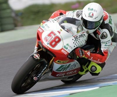 GP250 - Gilera: Simoncelli se blesse et met son début de saison en danger