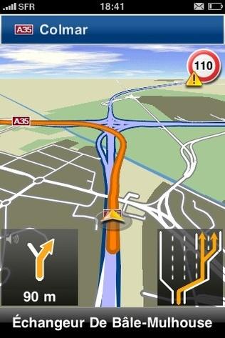 Test Navigon GPS pour iPhone, un GPS dans votre téléphone