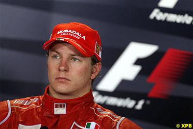 Formule 1 - Ferrari: Raïkkonen reconnaît avoir manqué d'intérêt