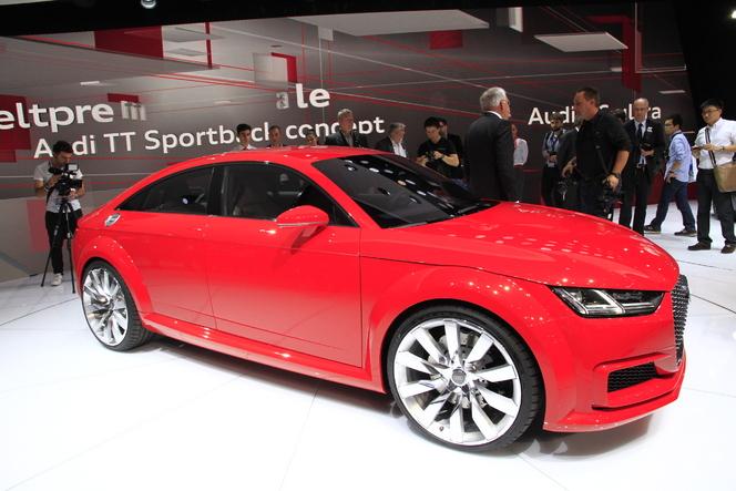 Audi TT Sportback Concept, le TT tiré - En direct du salon de Paris 2014