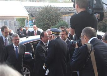 François Hollande en visite au Mondial de l'auto